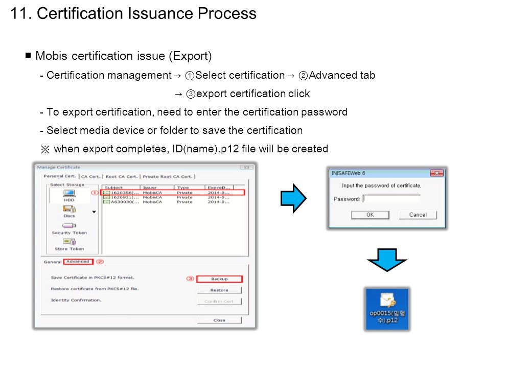 11. Certification Issuance Process