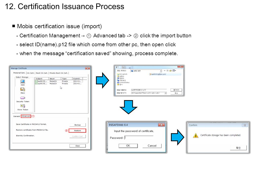 12. Certification Issuance Process