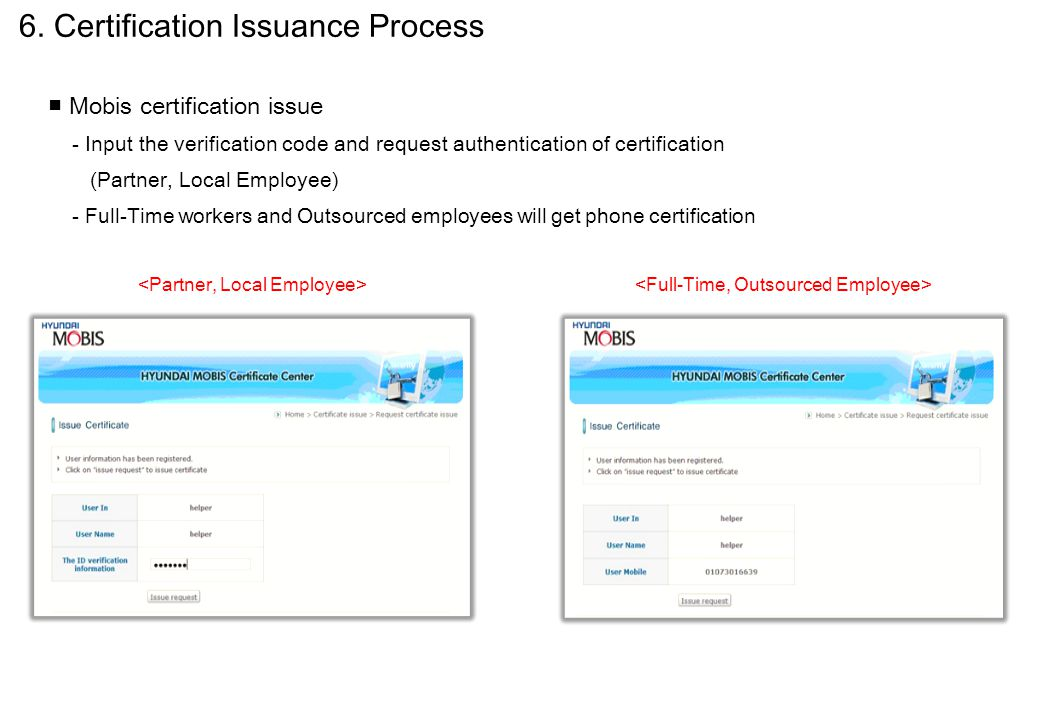 6. Certification Issuance Process