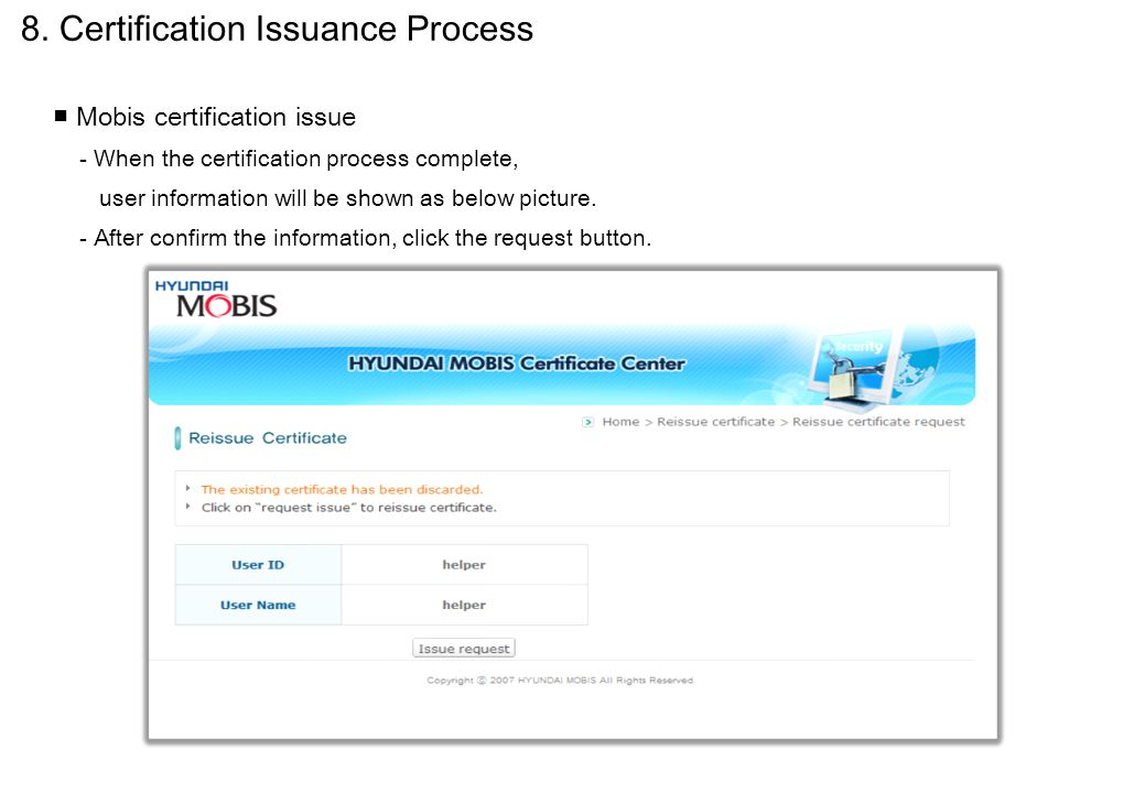 8. Certification Issuance Process