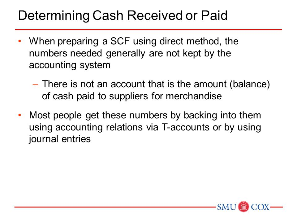 Determining Cash Received or Paid