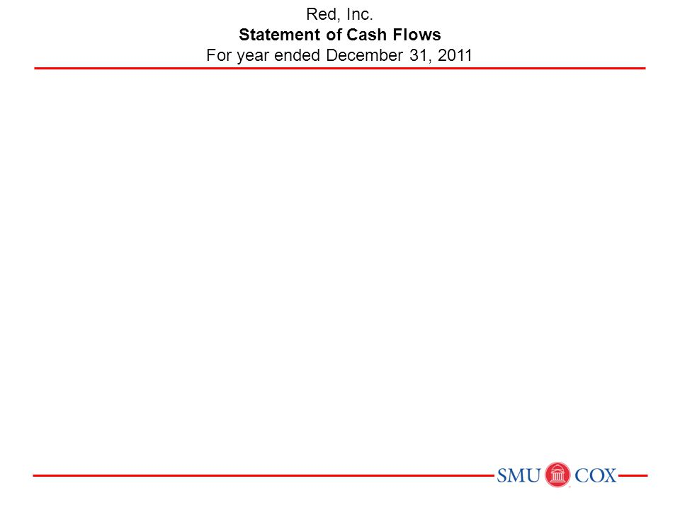 Statement of Cash Flows For year ended December 31, 2011