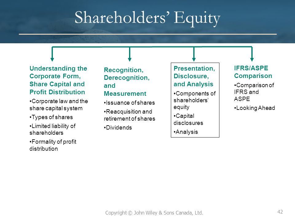 Shareholders' Equity Understanding the Corporate Form, Share Capital and Profit Distribution. Corporate law and the share capital system.