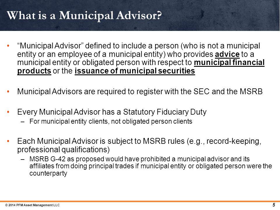 What is a Municipal Advisor