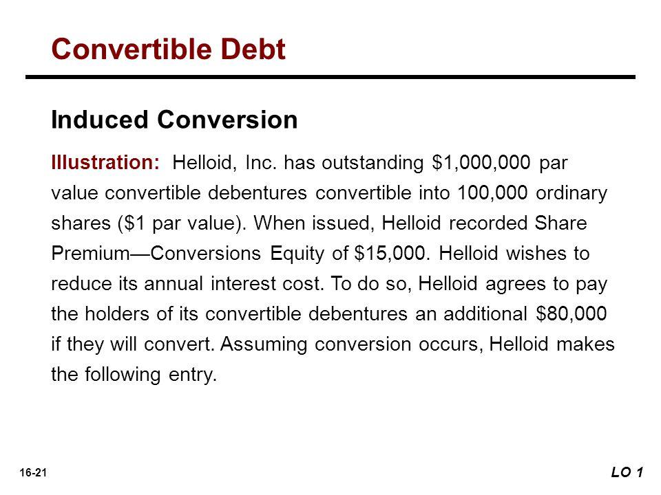 Convertible Debt Induced Conversion