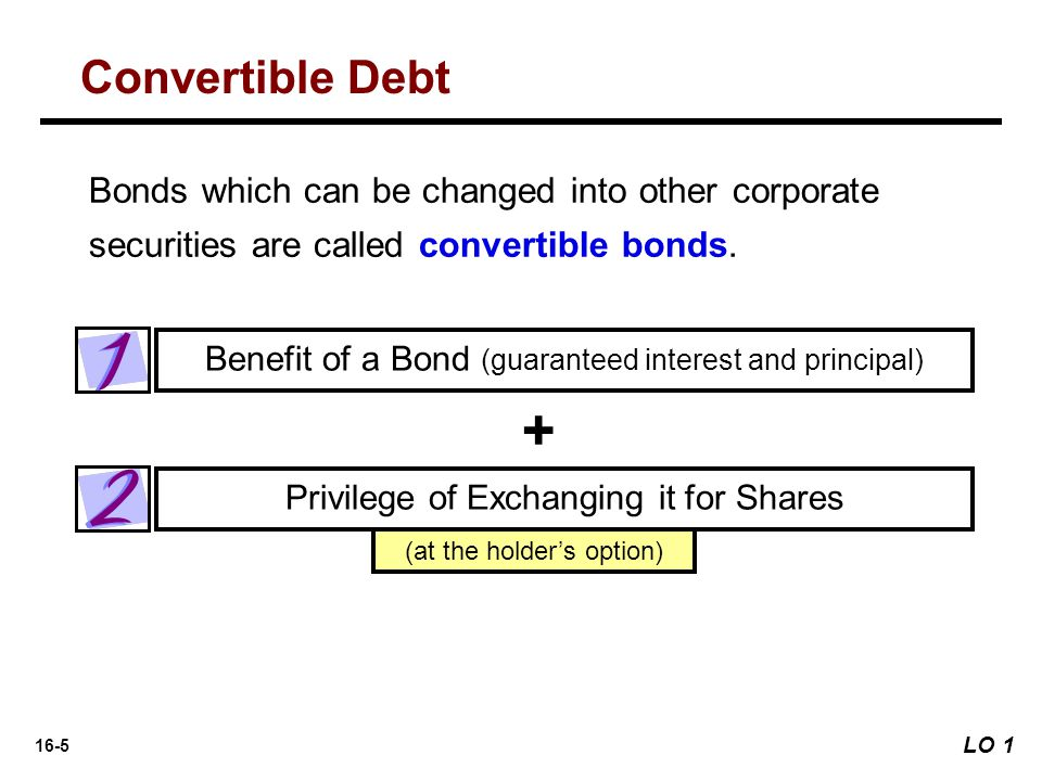 Convertible Debt Bonds which can be changed into other corporate securities are called convertible bonds.