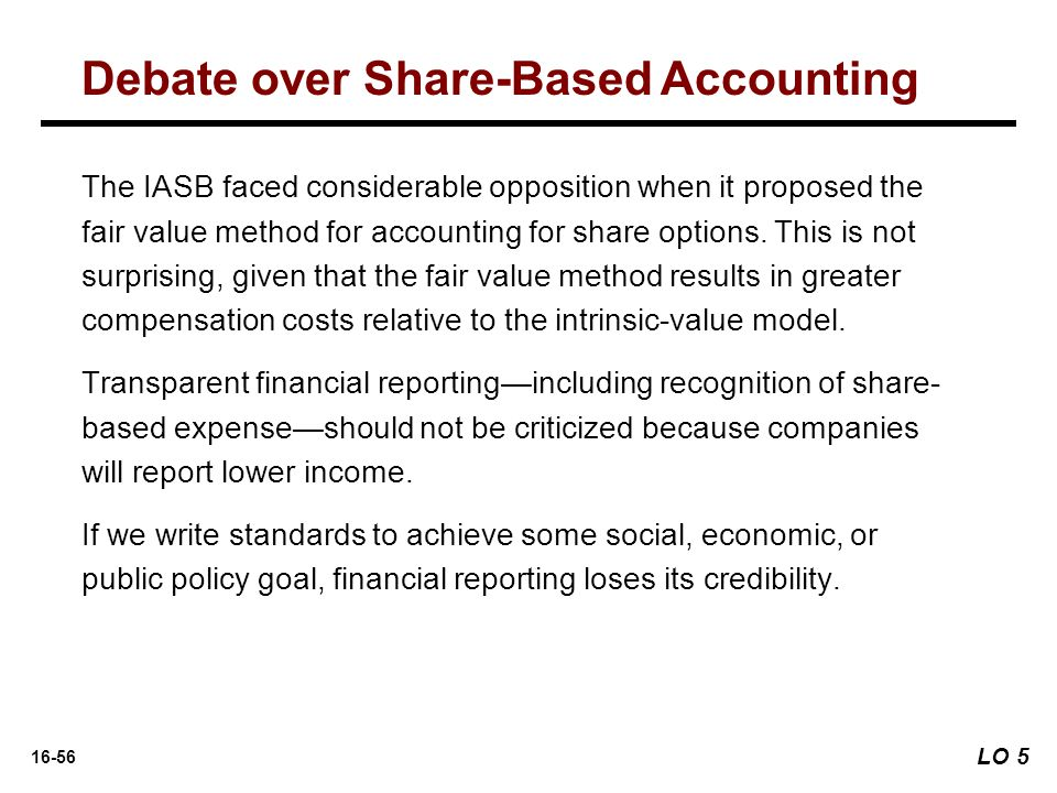 Debate over Share-Based Accounting