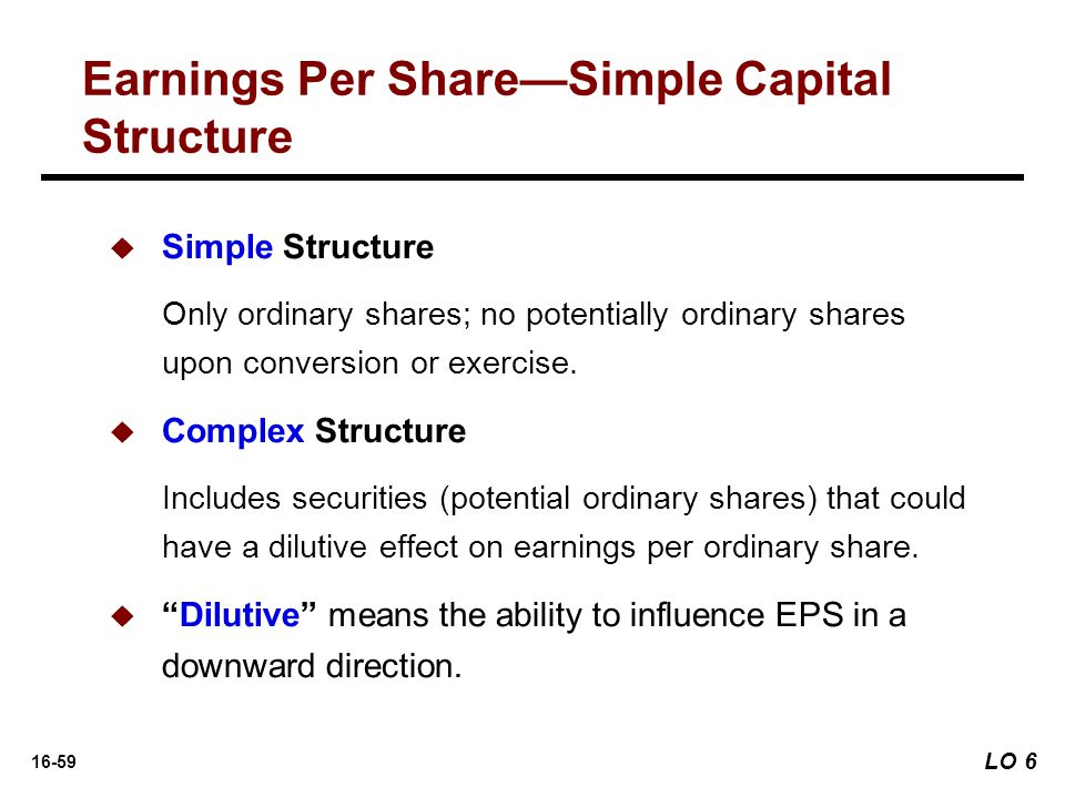 Earnings Per Share—Simple Capital Structure