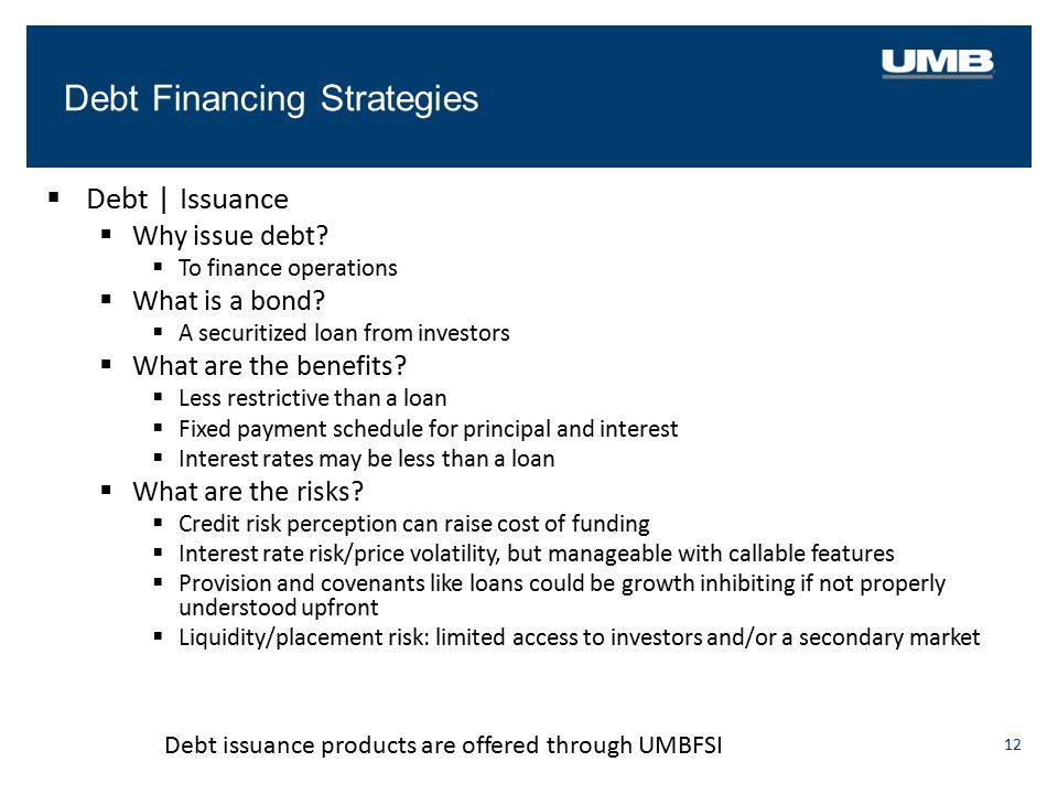 Debt Financing Strategies