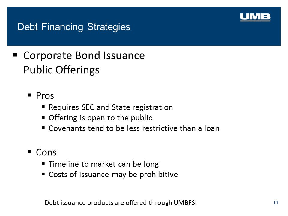 Corporate Bond Issuance Public Offerings