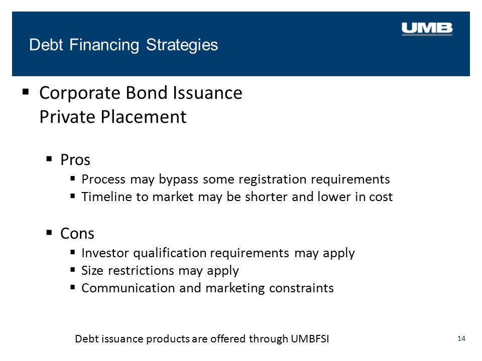 Corporate Bond Issuance Private Placement
