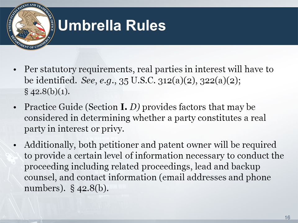 Umbrella Rules