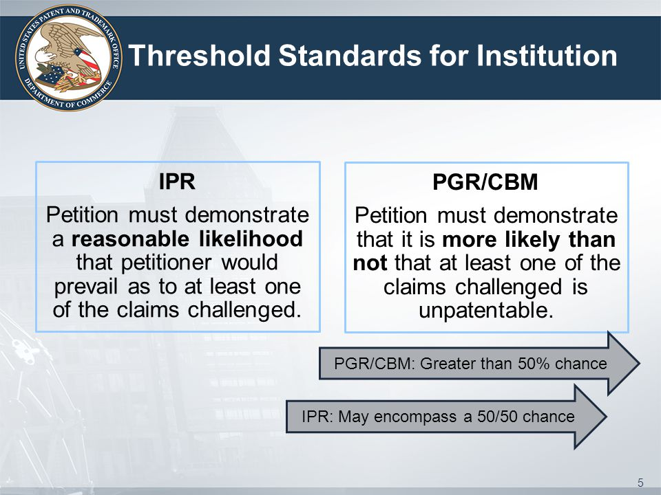Threshold Standards for Institution