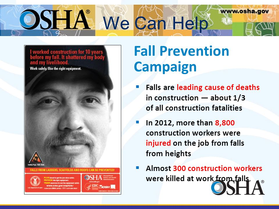 We Can Help Fall Prevention Campaign