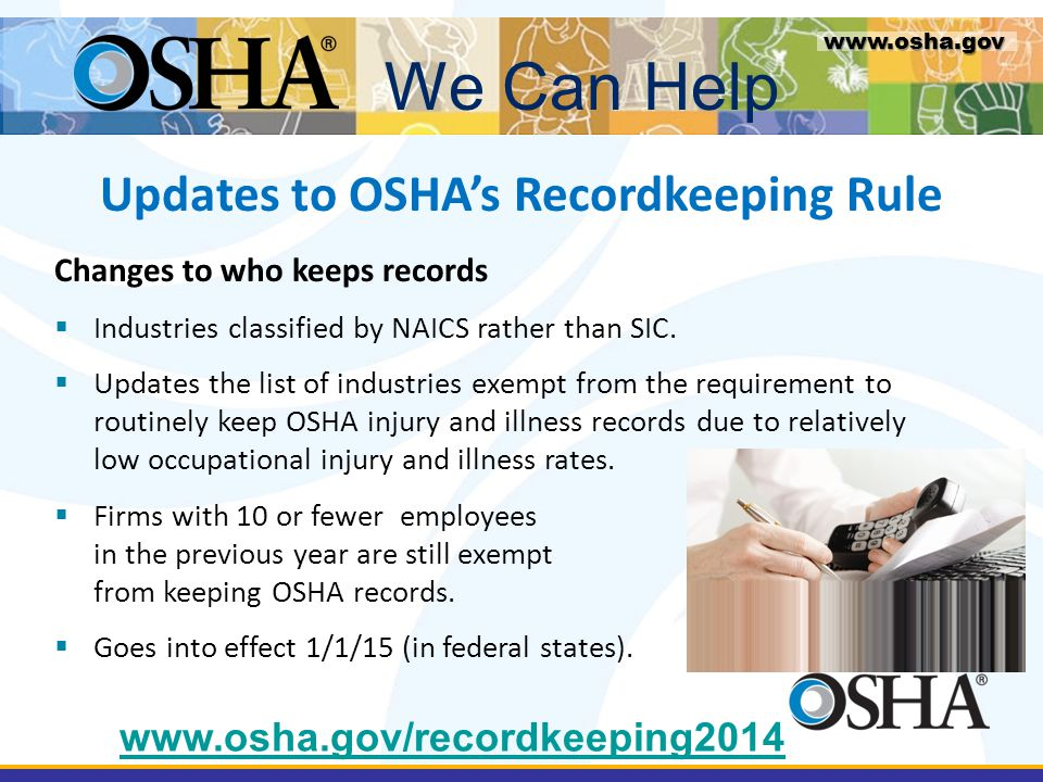 Updates to OSHA's Recordkeeping Rule