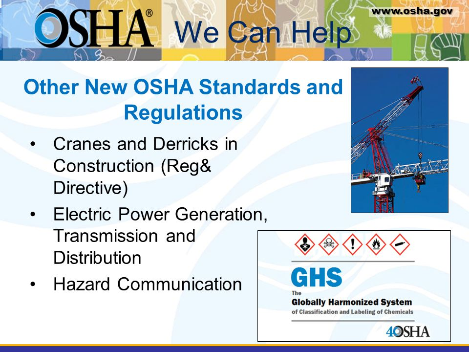 Other New OSHA Standards and Regulations