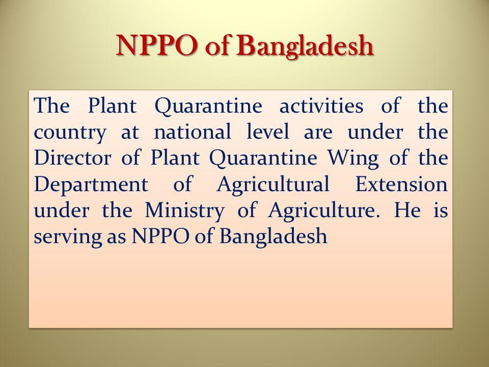 NPPO of Bangladesh