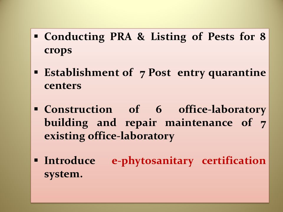Conducting PRA & Listing of Pests for 8 crops