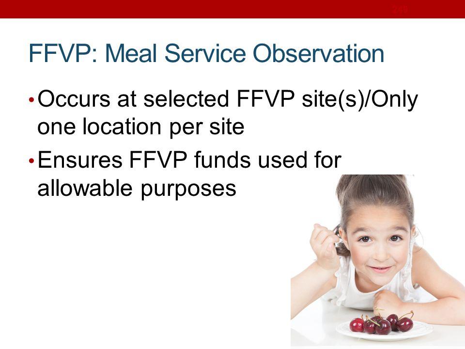 FFVP: Meal Service Observation
