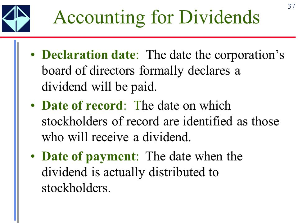 Accounting for Dividends