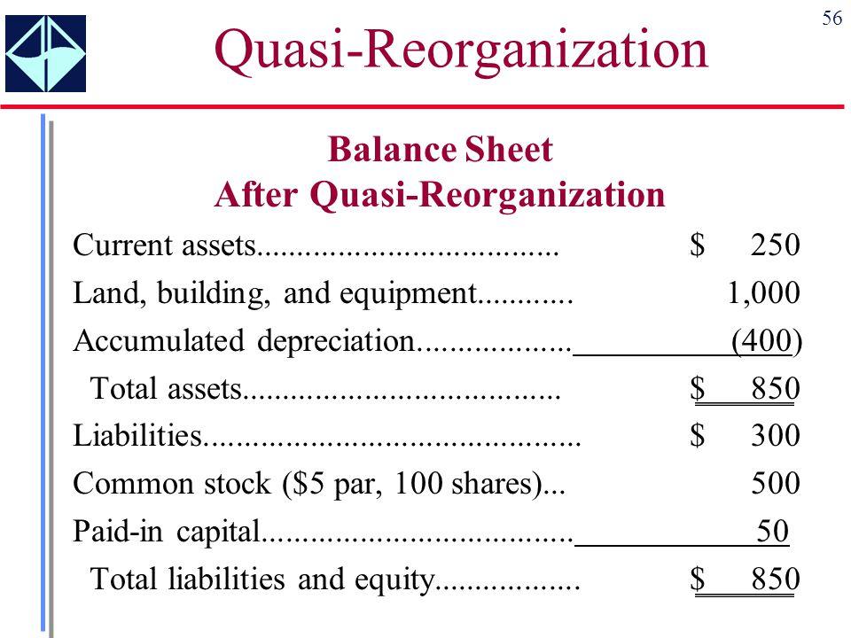 Quasi-Reorganization