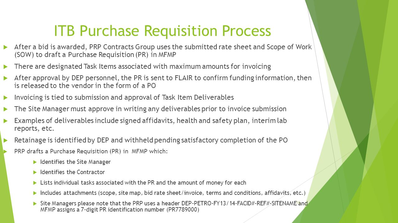 ITB Purchase Requisition Process