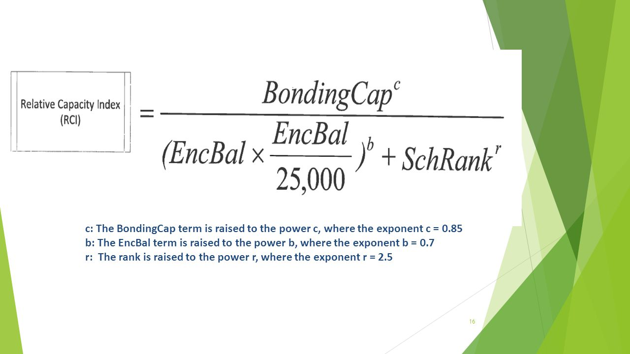 c: The BondingCap term is raised to the power c, where the exponent c = 0.85