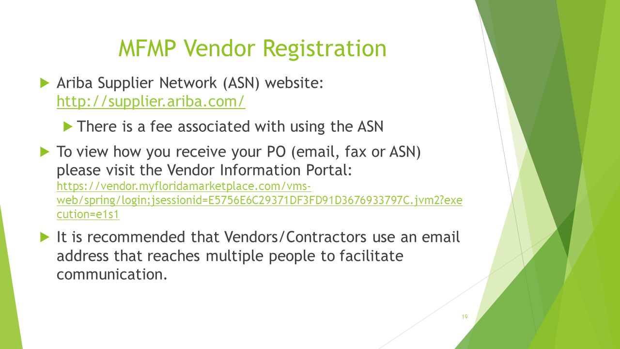 MFMP Vendor Registration