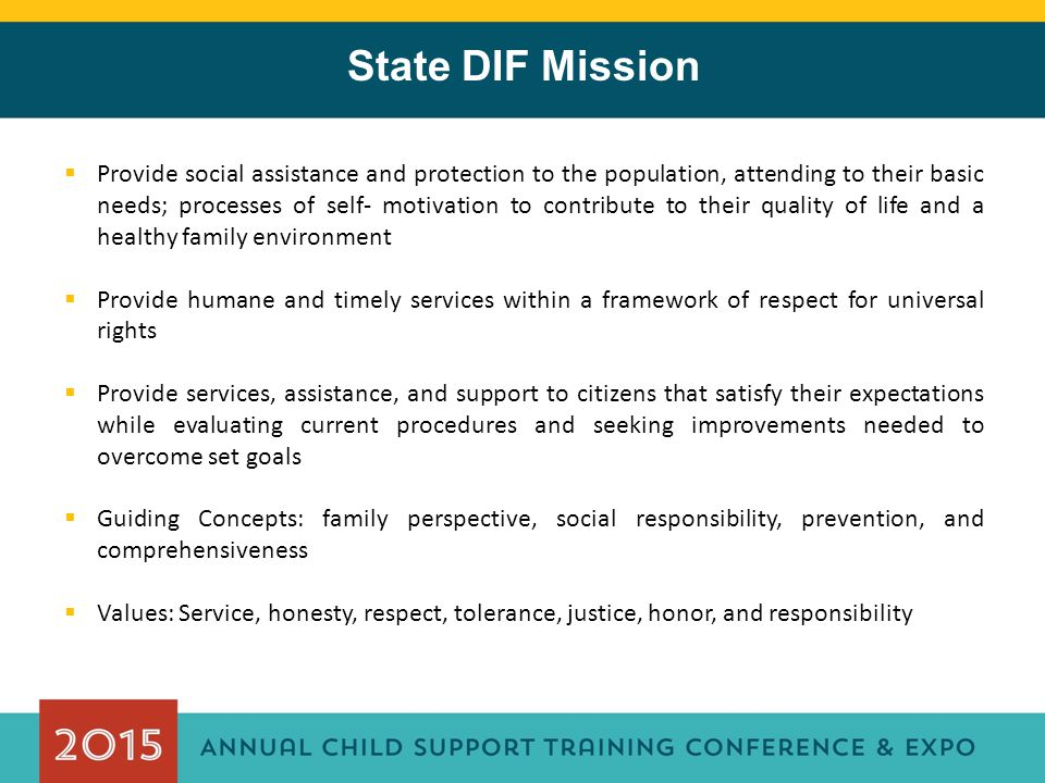 State DIF Mission