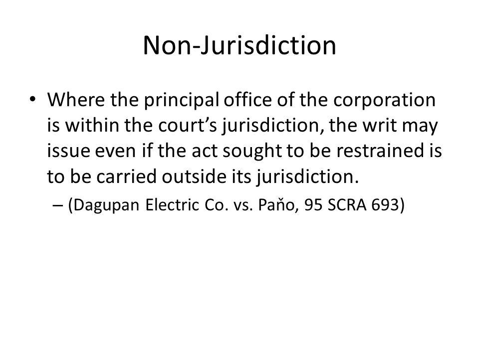 Non-Jurisdiction