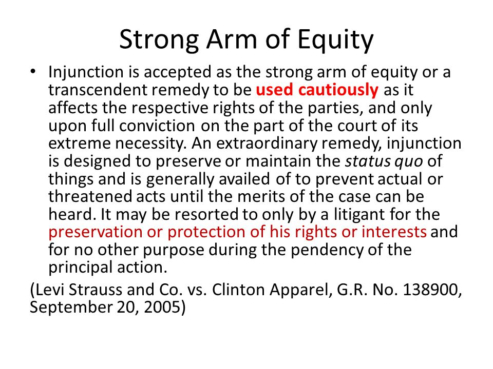Strong Arm of Equity