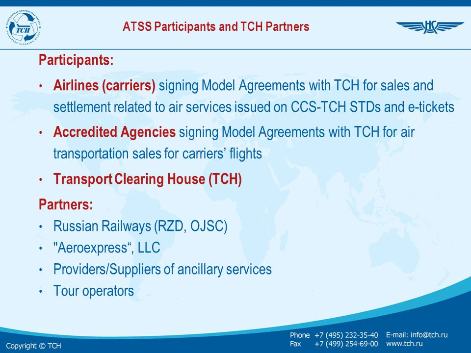 ATSS Participants and TCH Partners