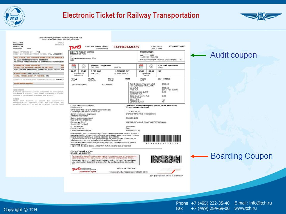 Electronic Ticket for Railway Transportation