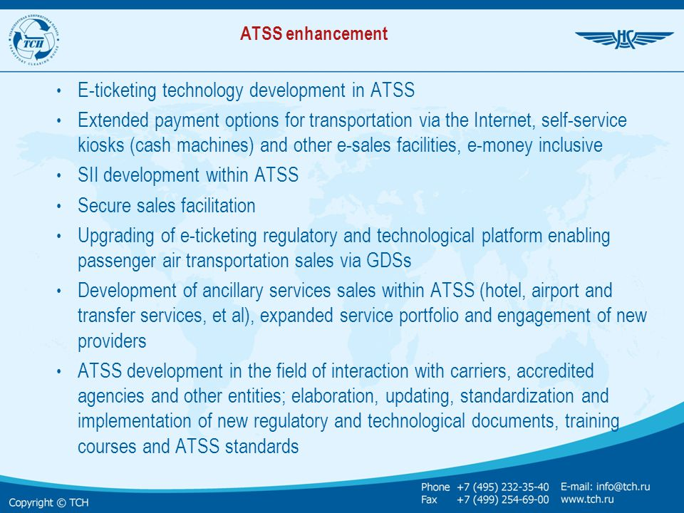 E-ticketing technology development in ATSS