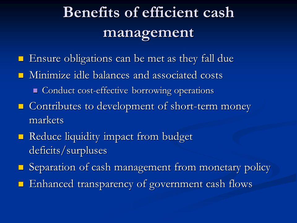 Benefits of efficient cash management