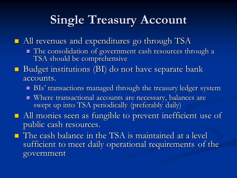 Single Treasury Account