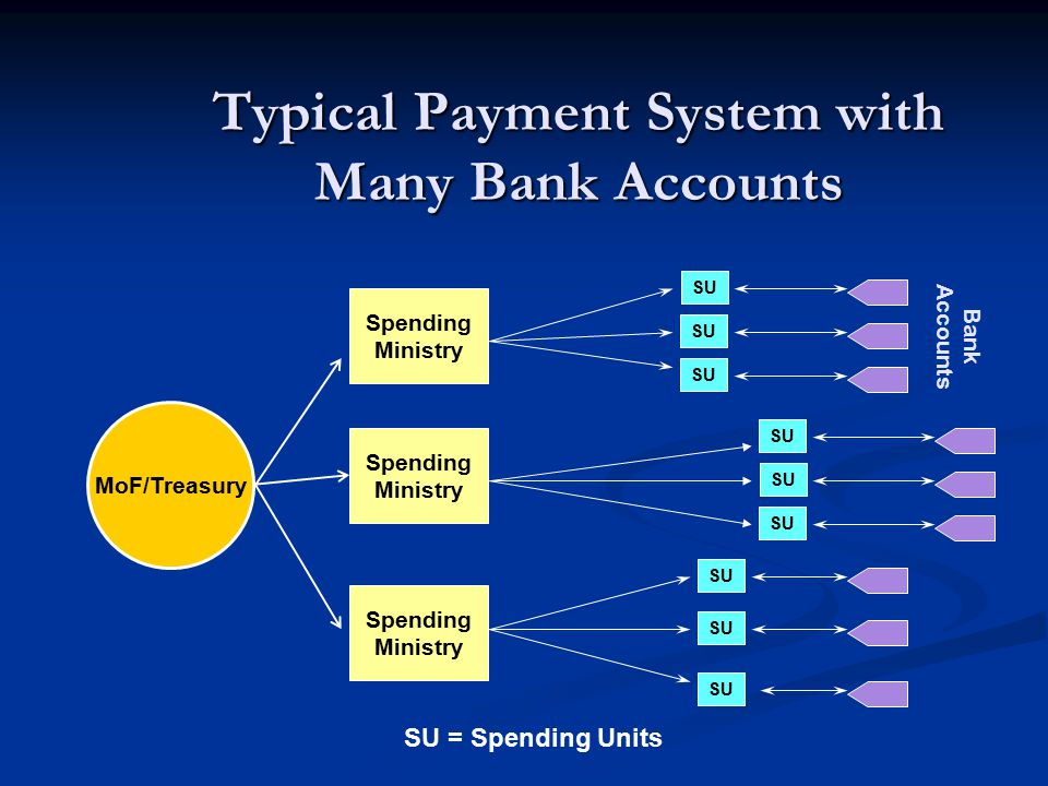 Typical Payment System with Many Bank Accounts
