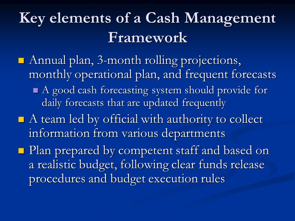elements of cash budget Identifying the five key elements of an effective cash flow statement manny may 29, 2014 0 comment  alternative advertising for the budget conscious.