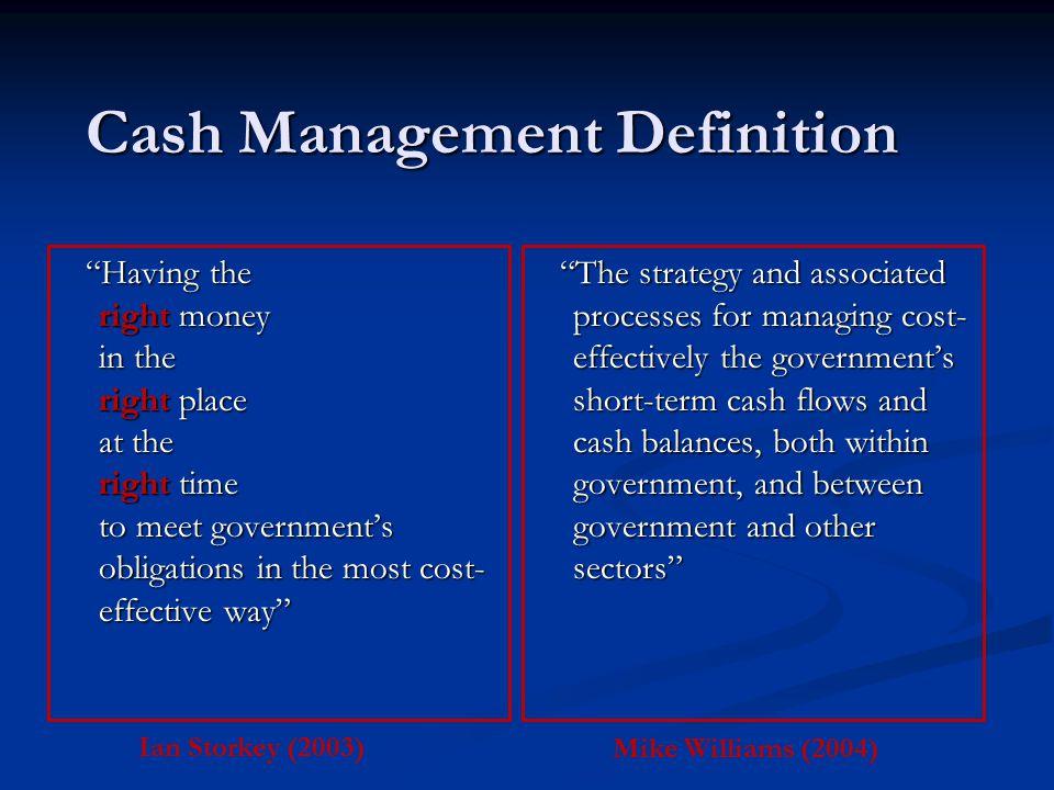 Cash Management Definition