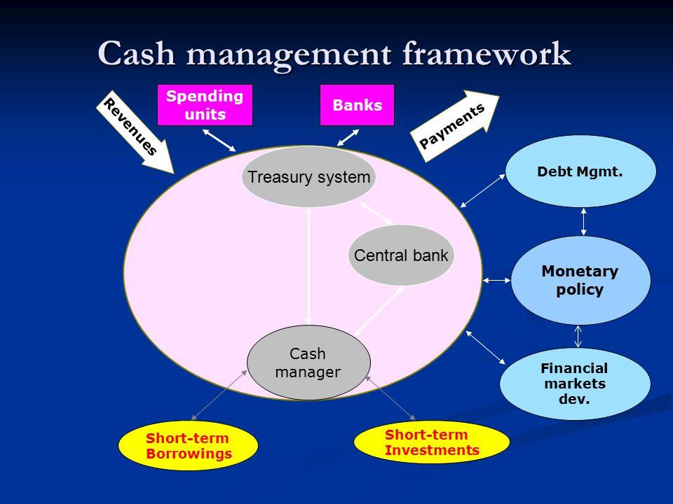 Cash management framework