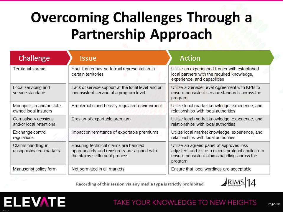 Overcoming Challenges Through a Partnership Approach