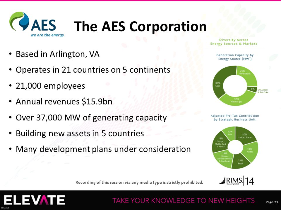 The AES Corporation Based in Arlington, VA