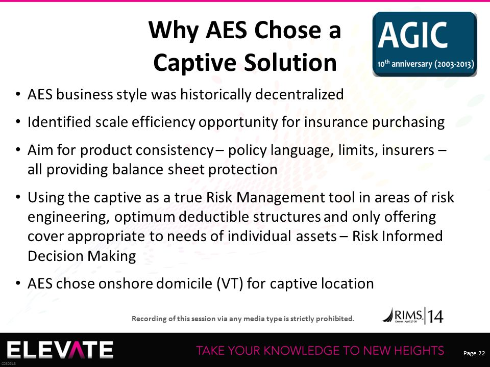 Why AES Chose a Captive Solution