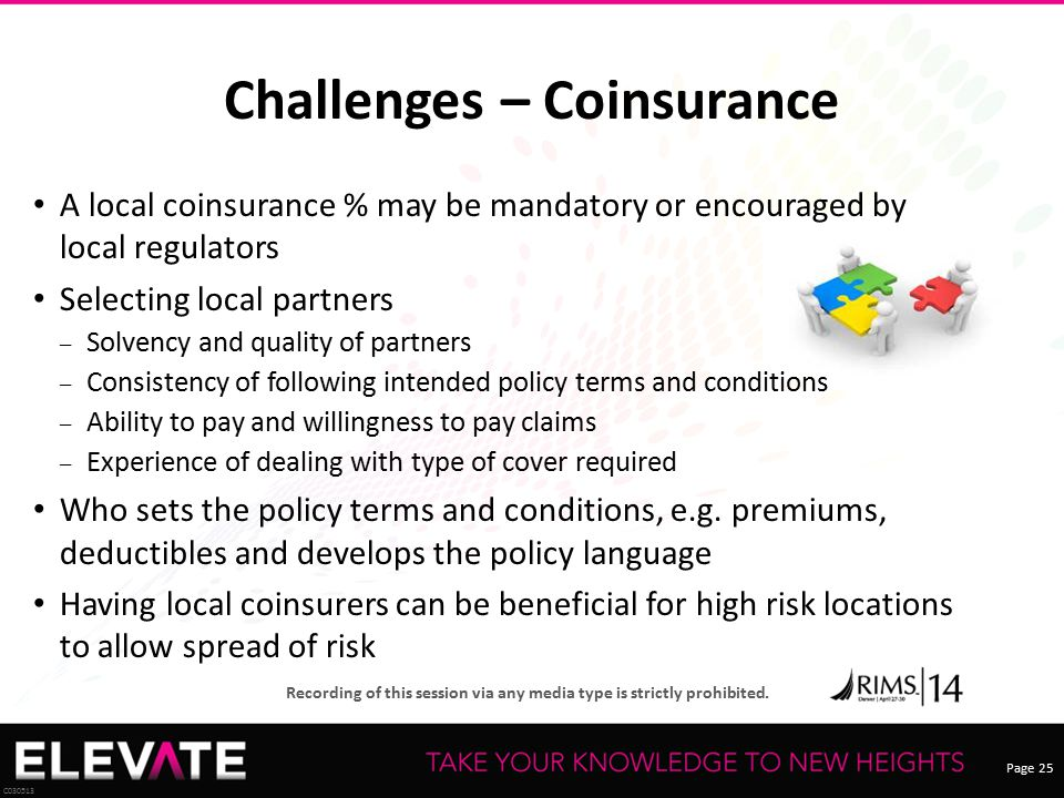 Challenges – Coinsurance