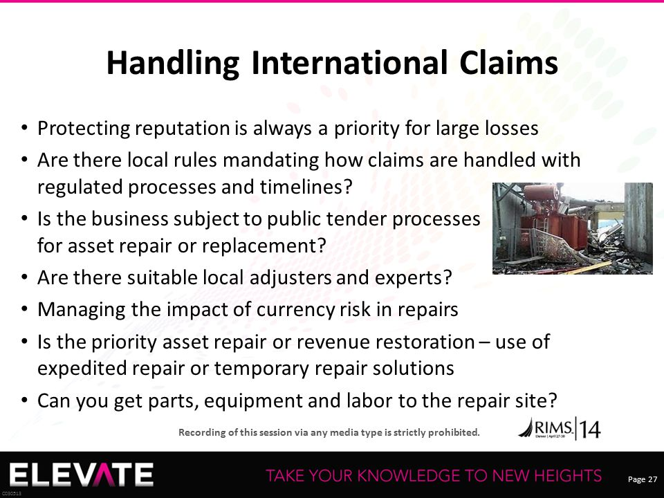 Handling International Claims