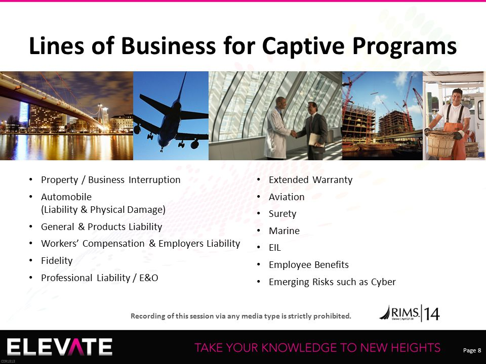 Lines of Business for Captive Programs