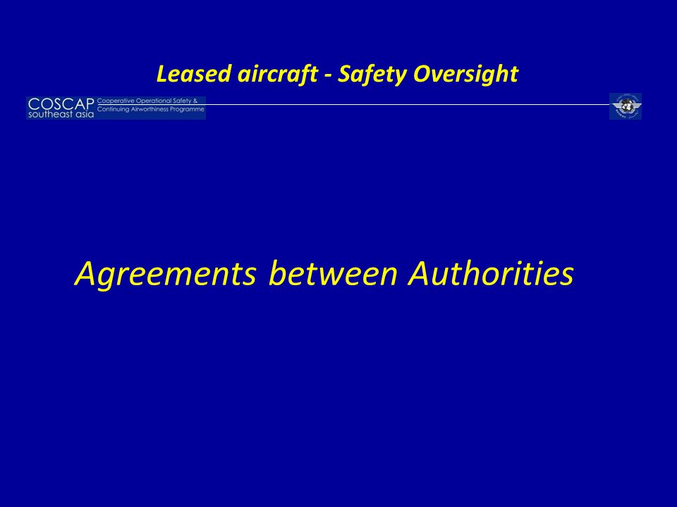 Leased aircraft - Safety Oversight