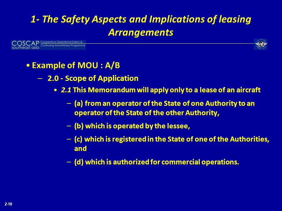 1- The Safety Aspects and Implications of leasing Arrangements