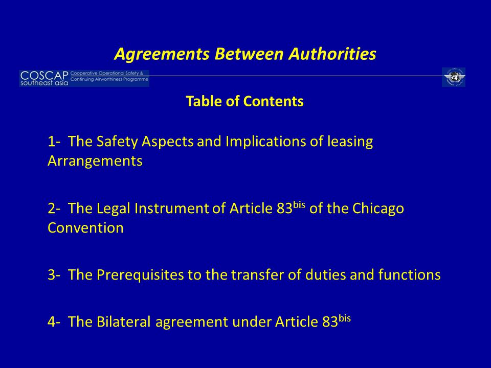 Agreements Between Authorities
