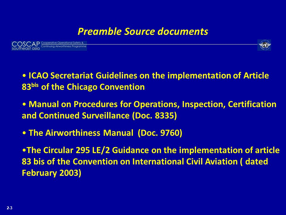 Preamble Source documents